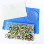 Kit Inicial Bolsa Con 2,000 Mini Beads,base Circular Y Papel