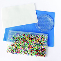 Kit Inicial Bolsa Con 2,000 Mini Beads,base Circular Y Papel