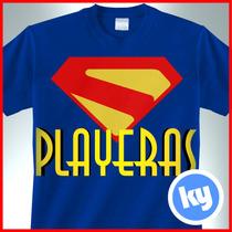 Playeras Super Héroes Serigrafía Marvel Dc Cómics Villanos