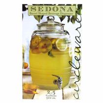Dispensador De Bebida Sedona Cristal 2.5 Gal. C/infusor Bola