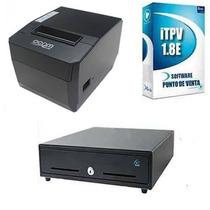 Kit Punto De Venta Impresora 80mm + Cajon+software De Venta