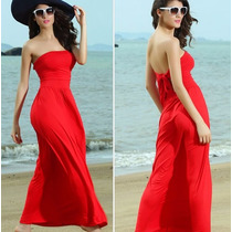 Vestido Playa Elegante Fresco Straple Moderno 2708