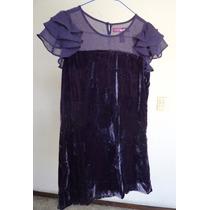 Talla-l (12) Niña Vestido Color Uva!1 Vn120
