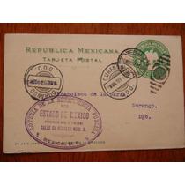 1906 Antigua Tarjeta Gubernamental De Durango A Loteria Nal