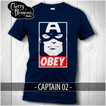 Playeras Captain America Obey Civil War Avengers Marvel