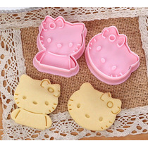 2 Cortadores Galletas Hello Kitty Pan Pasta Fondant Choco