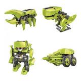 Robot Solar Transformer Kit Educativo De 4 Figuras En 1
