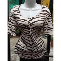 99/ Bonita Blusa De Tigre Gilbert De Suburbia Talla 30