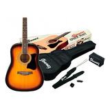 Paquete Guitarra Acústica Ibanez V50njp-vs Color Sombreada
