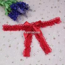 Tanga De Encaje Abierta Color Rojo Unitalla *:*