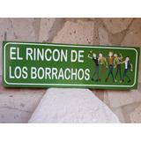 Rincon De Los Borrachos Cantina Cuadro Cartel Bar