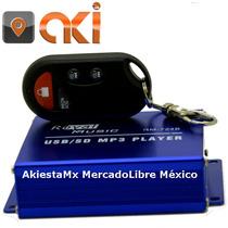 Alarma Para Moto Con Bocinas 20w Sensor De Golpe Mp3 Usb Sd
