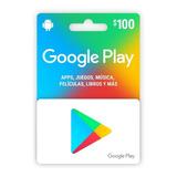 Tarjeta Google Play 100 Mercado Líder Platinum