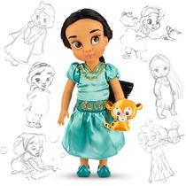 Muñecas Jazmin Tiana Mulan Aurora Animator 40cm Disney Store