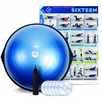 Entrenador De Equilibrio ** Bosu ** Incluye Dvd C/azul