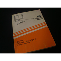 Preparatoria Abierta - Textos Literario I - Segundo Semestre