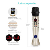 Microfono K-box Karaoke Bocina Bluetooth Navidad Inalmbrico