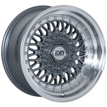Rin Esm 002 Estilo Rs 15x8 4-100 Para Vw, Honda, Gun Metal