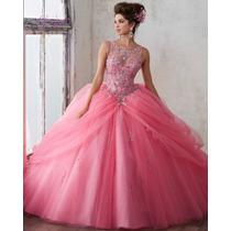 Busca Vestido Tipo Vizcaya Xv Anos Color Beige Con Los