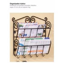 Betterware Organizador Rustico Herreria Recibos