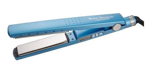 Plancha De Cabello Babyliss Pro 2091 Babnt2091t Azul Con Placas De Titanio 110v
