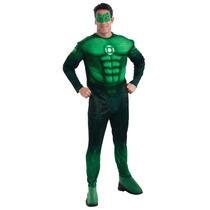 Linterna Verde Traje -x Large Xl Deluxe Hal Jordan Muscular