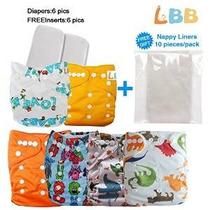Reutilizables Del Paño Del Bebé De Bolsillo Pañales, 6 Pc +
