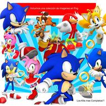 Kit Imprimible Sonic Diseña Cumples Tarjetas Invitacion Mas