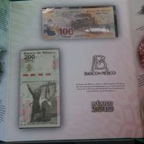 Set De Billetes $100 Y $200 Pesos Con Mismo No De Serie Unc