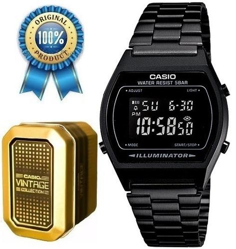 9abedc28ddd7 Reloj Casio B640 Retro Vintage Negro Mate Pavonado