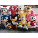 Peluche Sonic 35 Cm,sonic Lobo, Tails, Shadow, Knucles, Dark