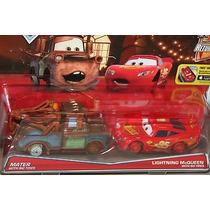 Disney Cars 2 Pack Mate & Mcqueen Sin Llantas 2016 Mattel