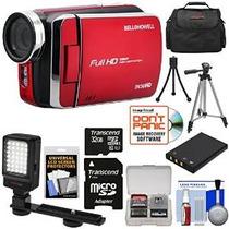 Bell & Howell Dv30hd 1080p Hd Cámara Video (rojo) Con El Kit