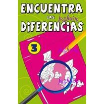 Libros Encuentra Las Diferencias Juego Destreza Jt**