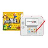 Nintendo 2ds New Super Mario Bros 2 Blanco Y Rojo