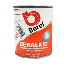 Pintura Esmalte Beralkid Azul Orgánico (1/4 Lt) Berel