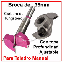 Broca 35 Mm Para Cazoleta Carburo Bisagra Bidimensional