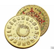 Moneda Con Calendario Azteca 2015 Bañada En Oro De Coleccion