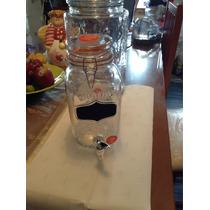 Dispensador De Vidrio De Bebidas Agua Tipo Masón Jars