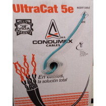 Bobina De Cable Utp Cat 5e Condumex Color Gris
