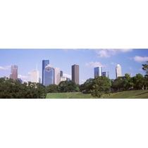 Poster (91 X 30 Cm) Downtown Skylines Houston Texas Usa