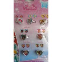 Set De Anillos Plastico Disney Princesas! Regalo, Nuevo