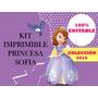Kit Imprimible Princesa Sofia Editable- Fiesta- Candy Bar
