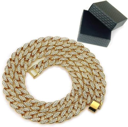 Conjunto De Collar De Circonitas Cubanas+pulsera.