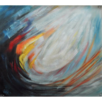 Pintura Abstracta Al Óleo: Ave Fénix