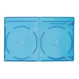 100 Estuche Blu Ray Doble 11mm Con Cubierta Plastica Full