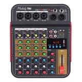 Consola Mezcladora De Audio Muslady Tm4 Digital 4 Canales