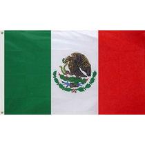 Bandera De México Y Del Mundo, 150x90cm. Envío Inmediato.