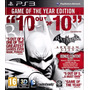 Ps3 - Batman Arkham City Goty (acepto Mercado Pago Y Oxxo)