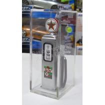 1:18 Bomba De Gasolina Metalica Texaco Plata Diorama